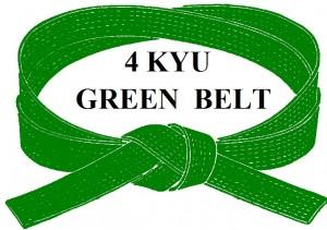GREEN  BELT 4 KYU