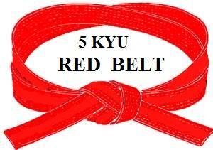 RED BELT 5 KYU