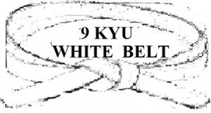WHITE   BELT 9 KYU YELLOW STRIPE